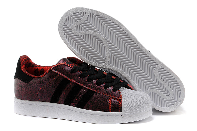 Men's/Women's Adidas Originals Superstar 2 CNY Casual Shoes Light Scarlet / Black / Running White D65600