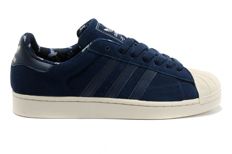 Men's/Women's Adidas Originals Superstar 2 Casual Shoes Navy Gold Camo D66092
