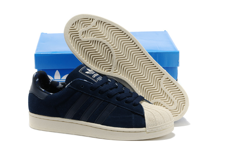 Men\'s/Women\'s Adidas Originals Superstar 2 Casual Shoes Navy Gold Camo D66092
