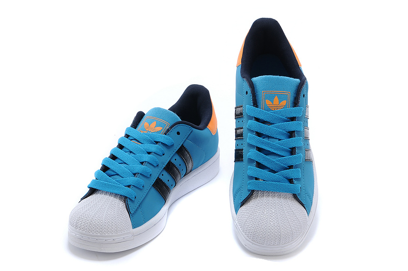 Men\'s/Women\'s Adidas Originals Superstar 2 Casual Shoes Solid Blue/Running White G99859