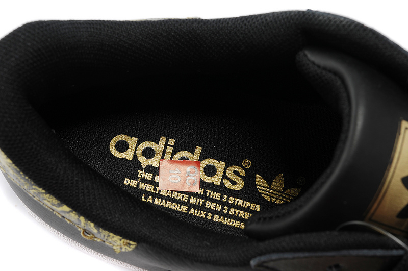 Men\'s/Women\'s Adidas Originals Superstar 2 Bling Casual Shoes Black Gold G62844