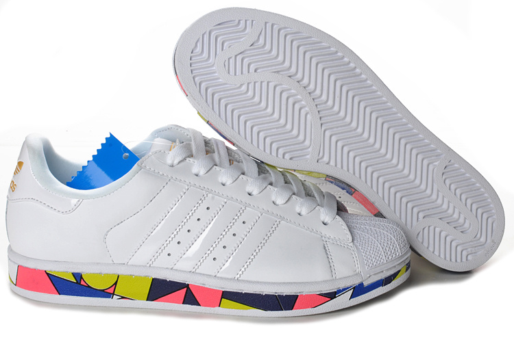 Men\'s/Women\'s Adidas Originals Superstar 2 Clover Picasso Lovers Casual Shoes White G50964