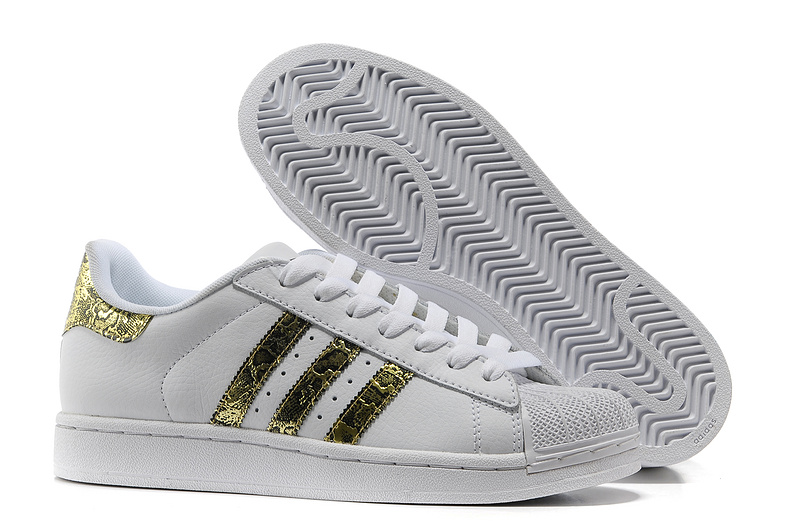 Men's/Women's Adidas Originals Superstar 2 Bling Casual Shoes White/metallic Gold G62845