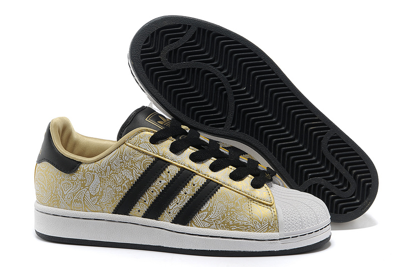 "Men's/Women's Adidas Originals Superstar 2 ""Phoenix Grain"" Casual Shoes Metallic Gold/Black-White G63095"