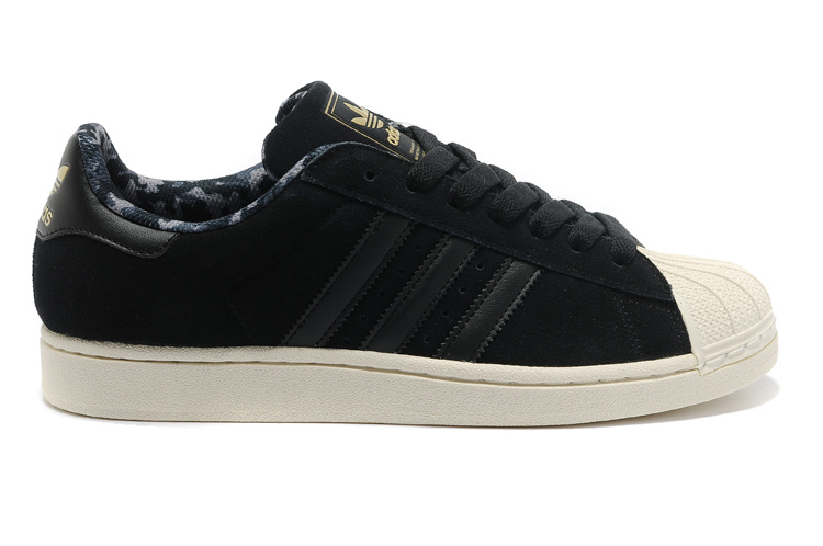 Men's/Women's Adidas Originals Superstar 2 Casual Shoes Black Gold D66091