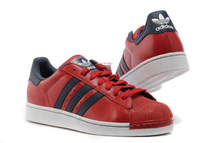 Men\'s/Women\'s Adidas Originals Superstar 2 Year Of The Snake Casual Shoes Black Red