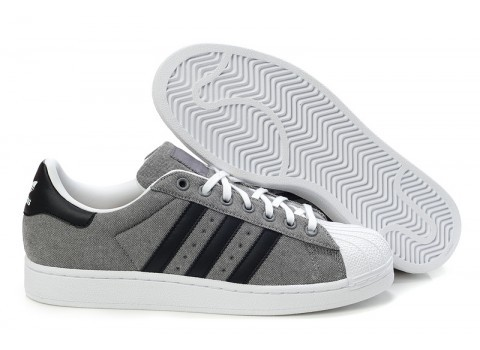 Men's/Women's Adidas Originals Superstar 2 Casual Shoes Grey Black