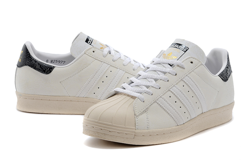 Men\'s/Women\'s Atmos x Adidas Originals Superstar 80s G-SNK 7 Shoes off-white M25977
