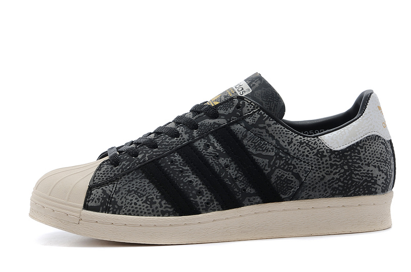 Men's/Women's Atmos x Adidas Originals Superstar 80s G-SNK Shoes Black M25976