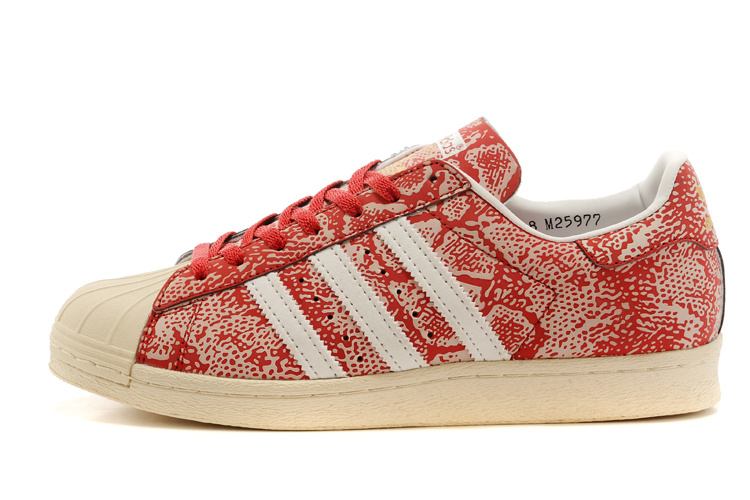 Men's/Women's Atmos x Adidas Originals Superstar 80s G-SNK Shoes Red M25977