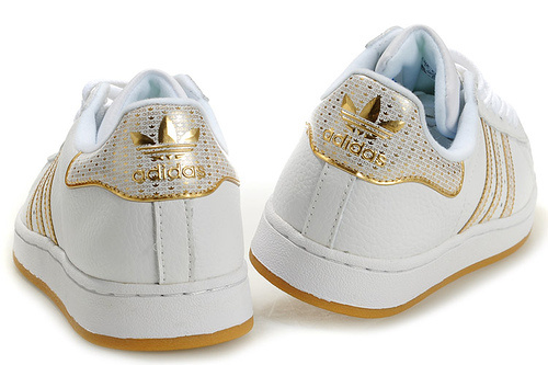 "Women\'s Adidas Originals Superstar 2 ""Bling Pack\"" Casual Shoes White/Gold"