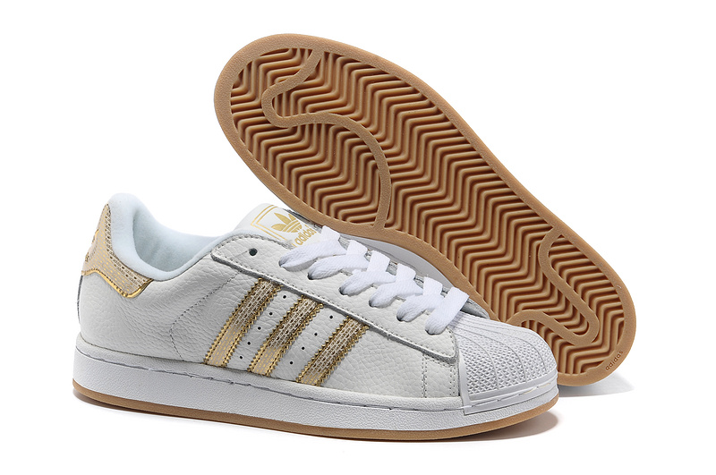 "Women's Adidas Originals Superstar 2 ""Bling Pack"" Casual Shoes White/Gold"