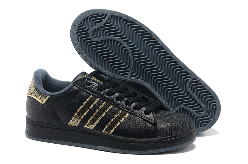 "Women's Adidas Originals Superstar 2 ""Bling Pack"" Casual Shoes Black/Gold"