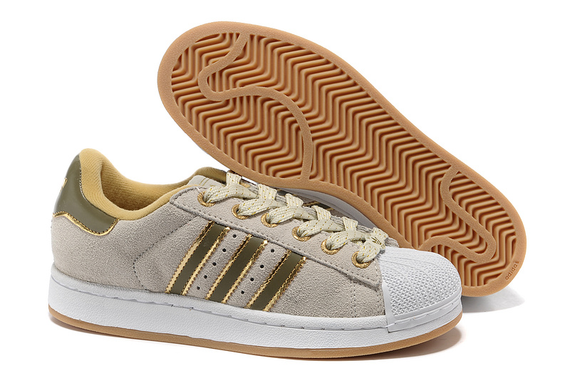 Women's Adidas Originals Superstar 2 Casual Shoes Beige/Gold 667456