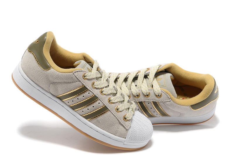 Women\'s Adidas Originals Superstar 2 Casual Shoes Beige/Gold 667456