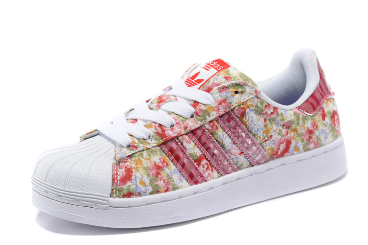 Women\'s Adidas Originals Superstar 2 Print Casual Shoes Pink/White
