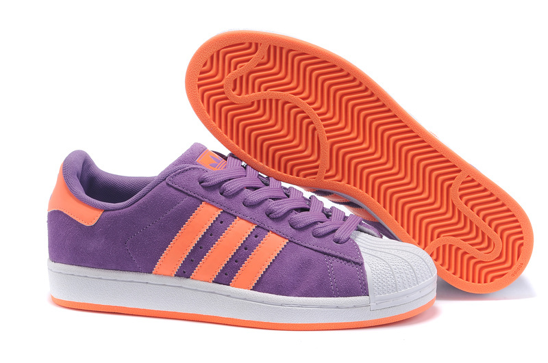 Men's/Women's Adidas Originals Superstar Casual Shoes Purple/Orange G43722
