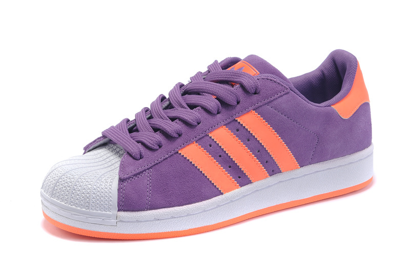 Men\'s/Women\'s Adidas Originals Superstar Casual Shoes Purple/Orange G43722