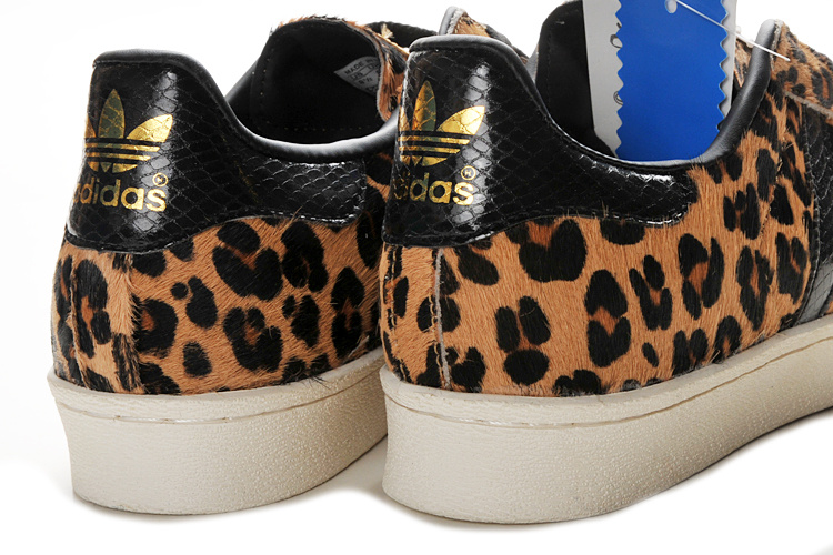Men\'s/Women\'s Adidas Originals Superstar 2 Print Casual Shoes Leopard Brown G62131