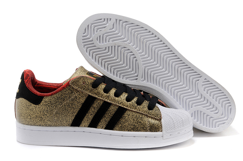 "Men's/Women's Adidas Originals Superstar 2 ""YOTH"" Pack Year OF THE Horse Casual Shoes Gold / Black / Red D65601"