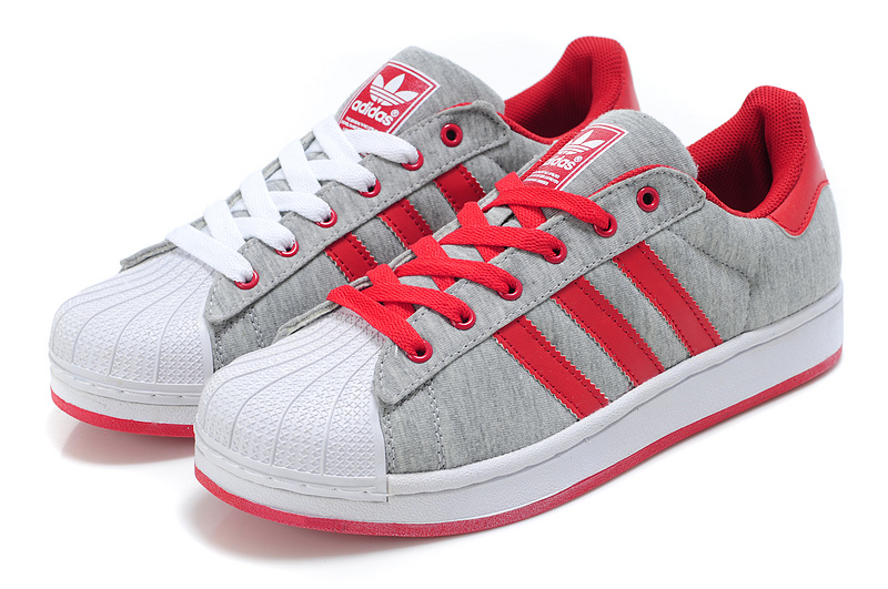 Women\'s Adidas Originals Superstar 2 Casual Shoes Grey/Red G17252