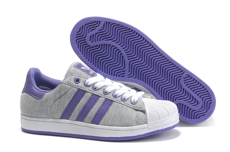 Men's/Women's Adidas Originals Superstar 2 Casual Shoes Grey/Purple G17251