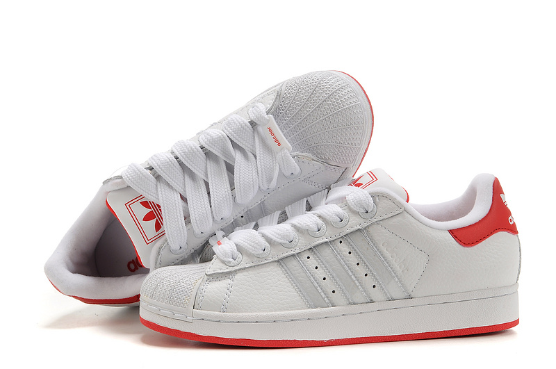 Women\'s Adidas Originals Superstar 2 Casual Shoes White/Red 919618