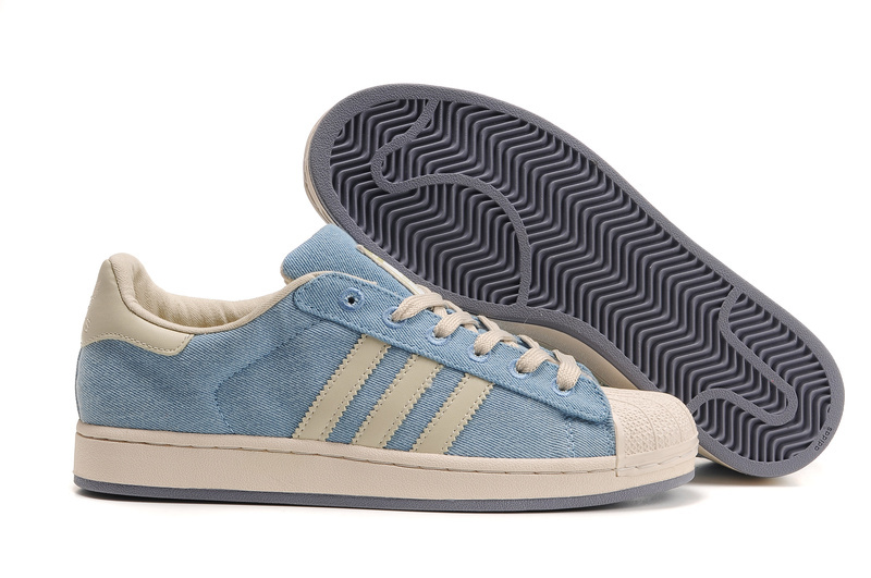 Women\'s Adidas Originals Superstar Casual Shoes Blue/White 909244