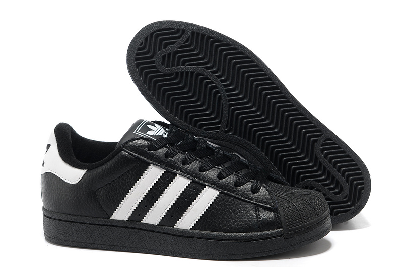 Women\'s Adidas Originals Superstar 2 Casual Shoes Black/White 664819