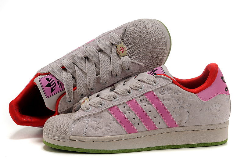 Women's Adidas Originals Superstar 2 Casual Shoes Beige/Pink 667200