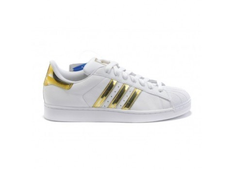 Men's/Women's Adidas Originals Superstar II Shoes Running Shoes White/Gold