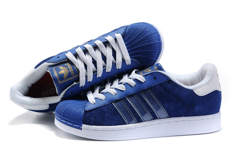 Men's Adidas Originals Superstar II Shoes Running Shoes Blue Bird G43033