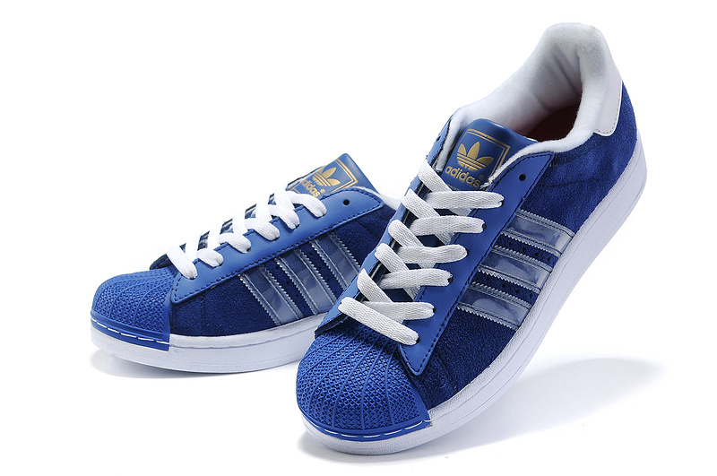 Men\'s Adidas Originals Superstar II Shoes Running Shoes Blue Bird G43033