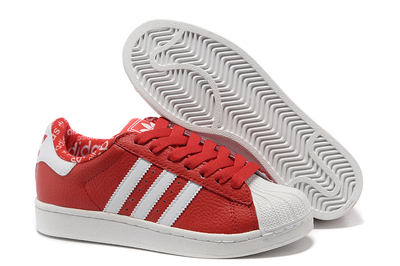 Women's Adidas Originals Superstar 2 Casual Shoes Red/White 663654