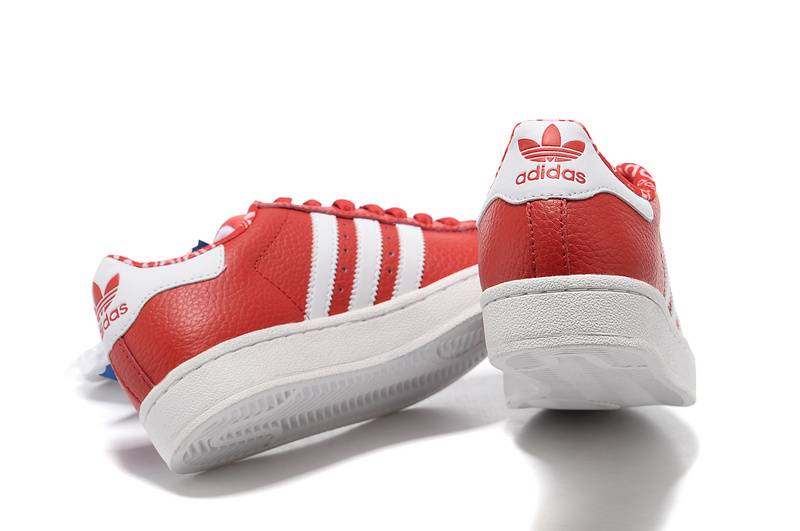 Women\'s Adidas Originals Superstar 2 Casual Shoes Red/White 663654