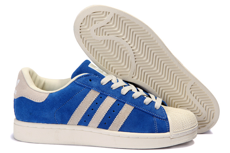 Women's Adidas Originals Superstar 2 Casual Shoes Blue/Beige 096974