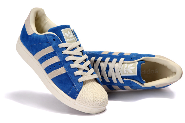 Women\'s Adidas Originals Superstar 2 Casual Shoes Blue/Beige 096974