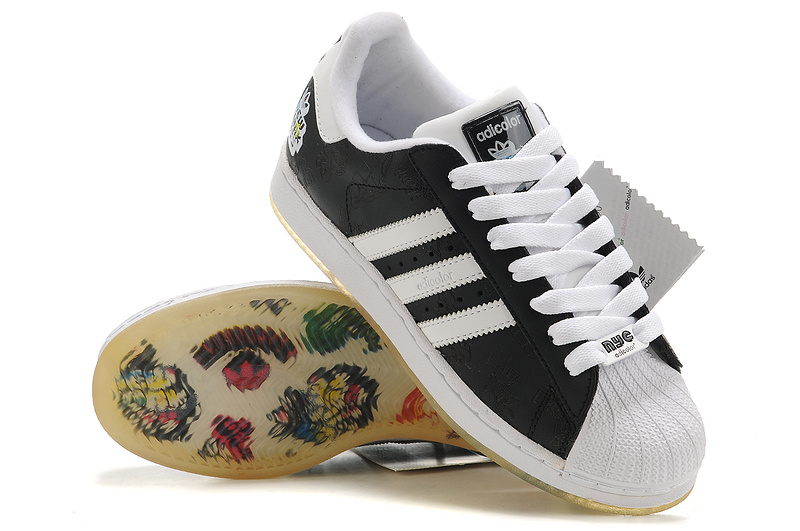 Men\'s/Women\'s Adidas Originals Superstar Adicolor Casual Shoes Black/White