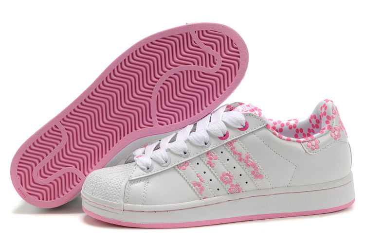 Women\'s Adidas Originals Superstar 2 Casual Shoes White/Pink