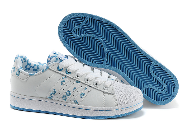 Women's Adidas Originals Superstar 2 Casual Shoes White/Blue