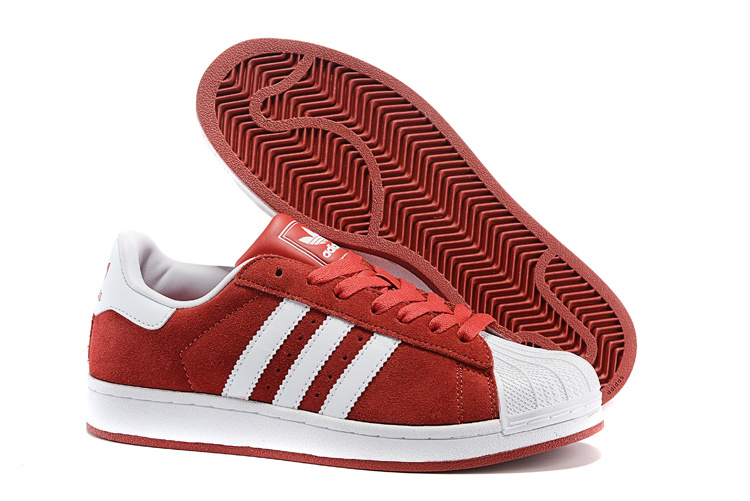 Men's/Women's Adidas Originals Superstar 2 Casual Shoes Red/White G50966