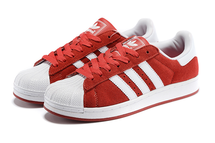 Men\'s/Women\'s Adidas Originals Superstar 2 Casual Shoes Red/White G50966