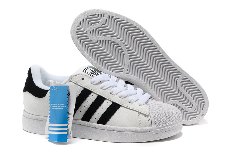 Men's/Women's Adidas Originals Superstar 2 Casual Shoes White/Black 034859