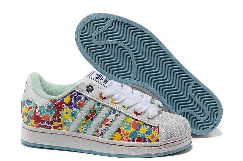 Women's Adidas Originals Superstar 2 Print Casual Shoes Multi-color 028189
