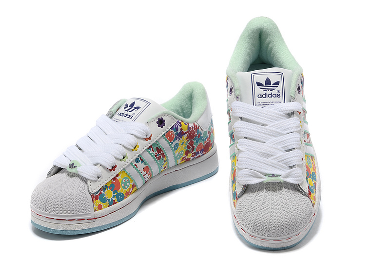 Women\'s Adidas Originals Superstar 2 Print Casual Shoes Multi-color 028189