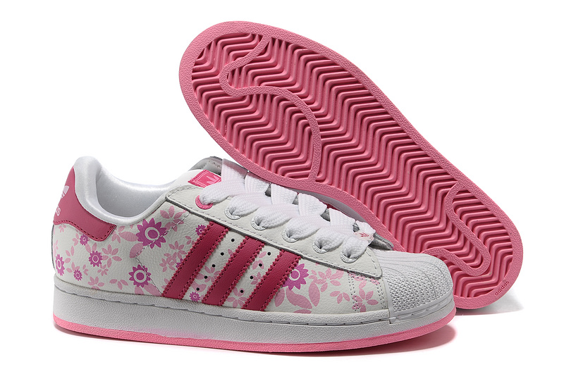 Women's Adidas Originals Superstar 2 Print Casual Shoes White/Pink 019784