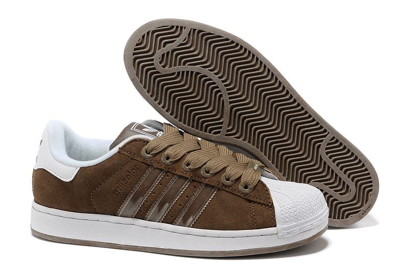 Men's/Women's Adidas Originals Superstar 2 Casual Shoes Brown 012820