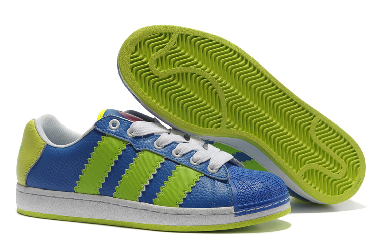 Men's/Women's Adidas Originals Ultra Stars Casual Shoes Blue/Lime G61589
