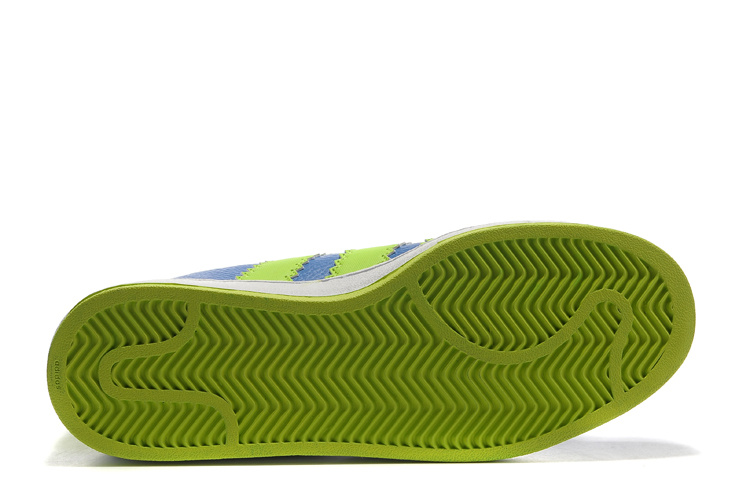 Men\'s/Women\'s Adidas Originals Ultra Stars Casual Shoes Blue/Lime G61589
