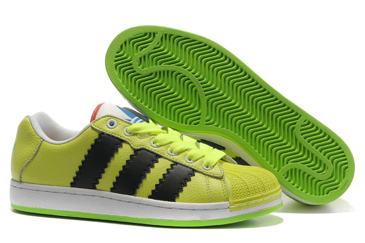 Men's/Women's Adidas Originals Ultra Stars Casual Shoes Electric Green/Black G61590